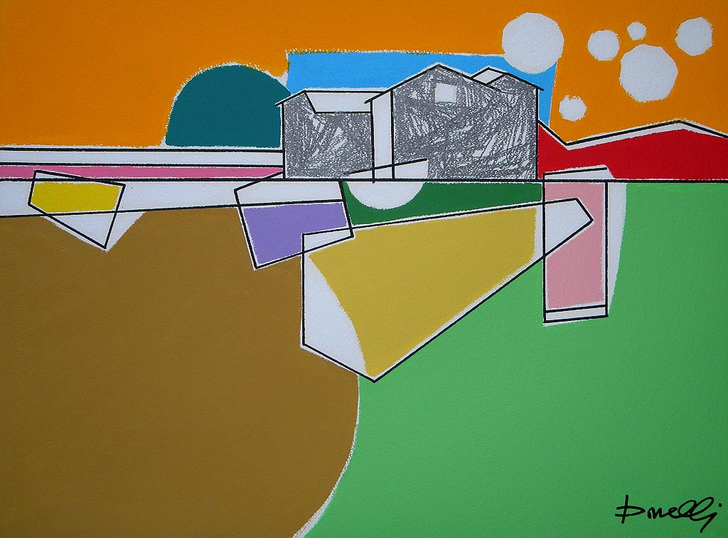 Paesaggio - Gabriele Donelli - Matita e acrilico - 400 €