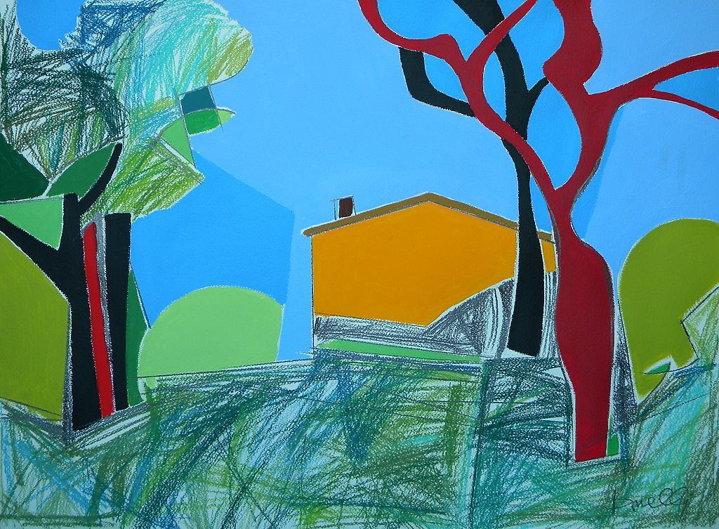 Paesaggio - Gabriele Donelli - Pastello e acrilico - 1200 €