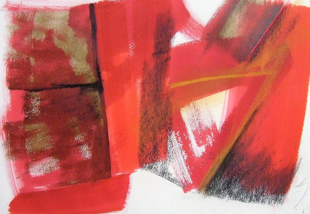 Pagina rossa - Alessandra Bisi - colore e carbone - 1100 €