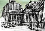 New York State Supreme Court - Lucio Forte - Ink and Acrylic on paper - 100 euro