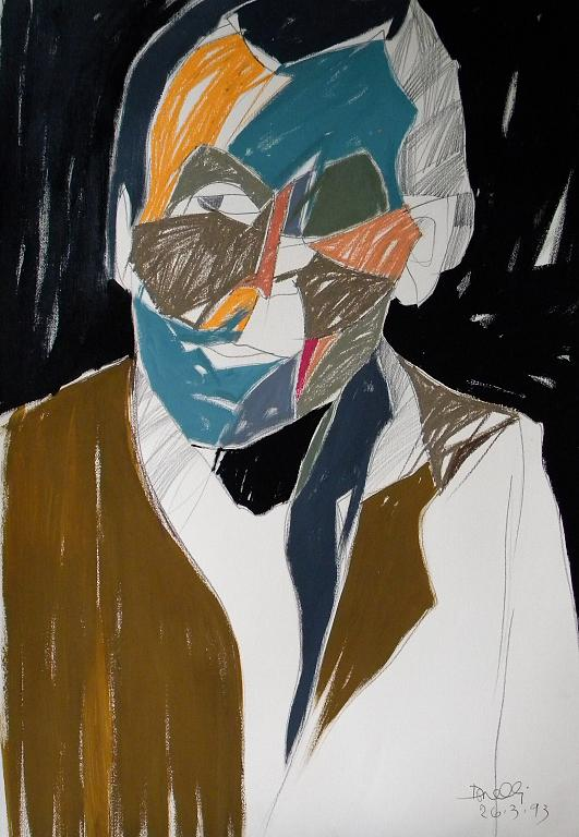 Ritratto di Louis-Ferdinand Celine - Gabriele Donelli - Pastello e acrilico -  €
