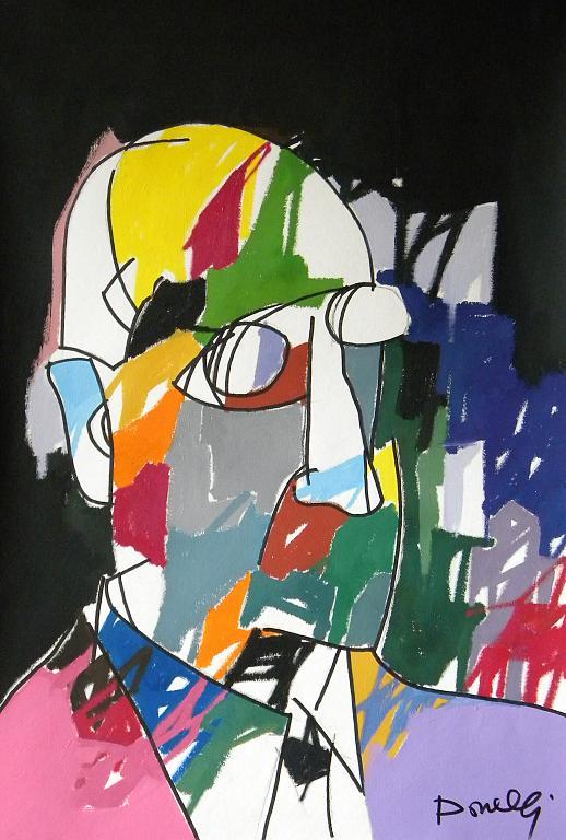 Ritratto di Piet Mondrian - Gabriele Donelli - Acrilico - 1100 €