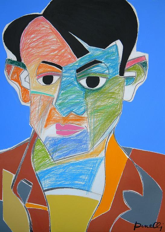 Ritratto di Pablo Picasso - Gabriele Donelli - Pastello e acrilico - 400 €