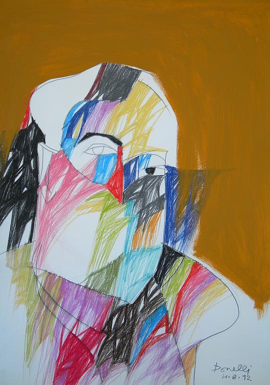 Ritratto di Filippo de Pisis - Gabriele Donelli - Pastello e acrilico - 1100 €