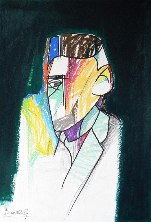 Ritratto di Franz Kafka - Gabriele Donelli - Pastello e acrilico - 300 €