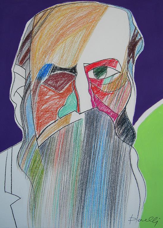 Ritratto di Fedor Michajlovic Dostoevskij - Gabriele Donelli - Pastello e acrilico - 400 €