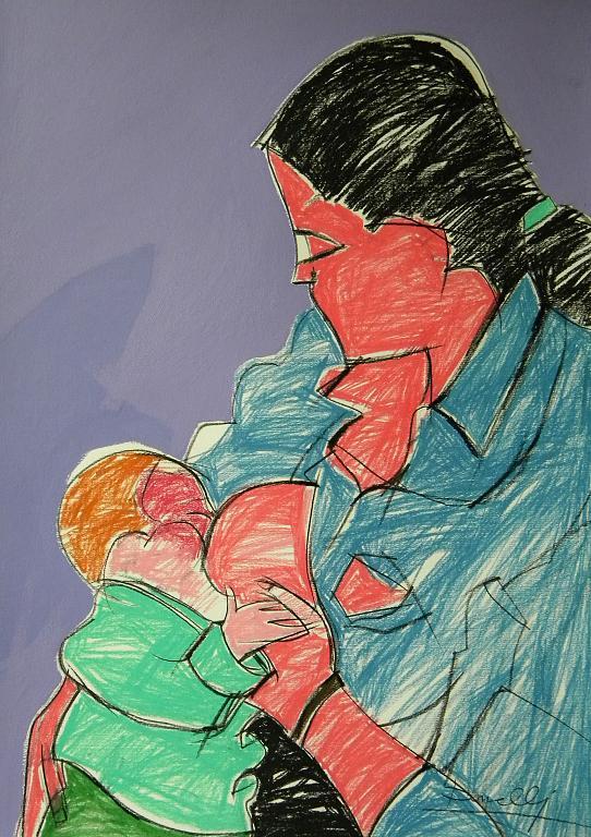Maternità - Gabriele Donelli - Pastello e acrilico - 300 €