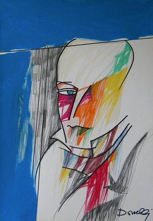 Ritratto di Giacomo Leopardi - Gabriele Donelli - Pastello e acrilico - 300 €