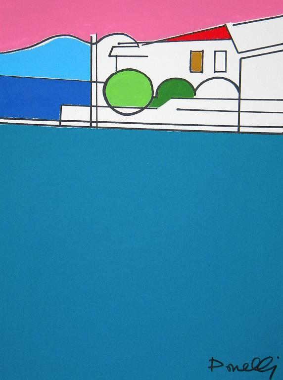Veduta sul lago d'Iseo - Gabriele Donelli - Acrilico - 1100 €