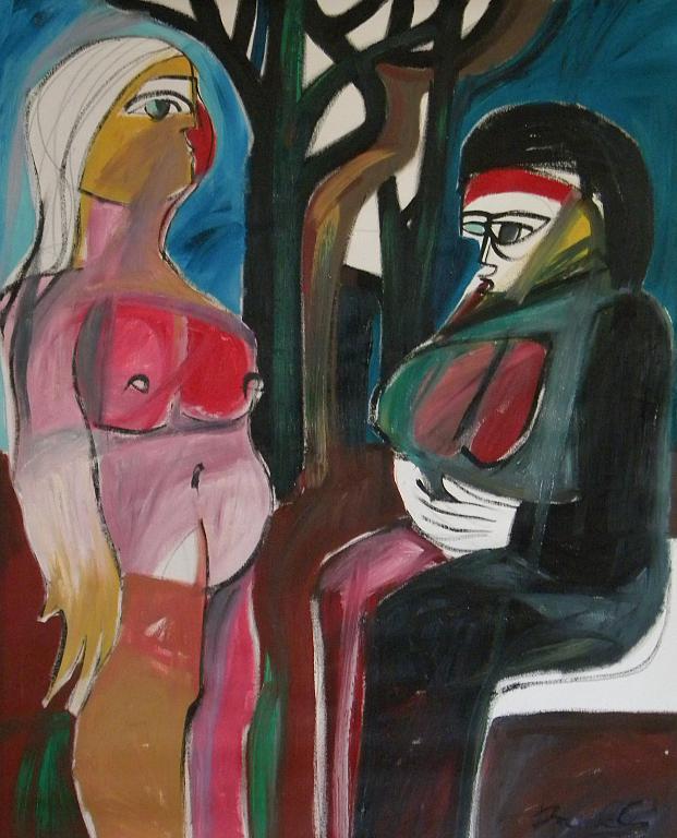 La madre e la figlia - Gabriele Donelli - Olio - 600 €