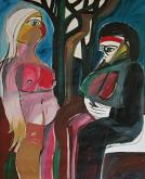 La madre e la figlia - Gabriele Donelli - Olio - 300€