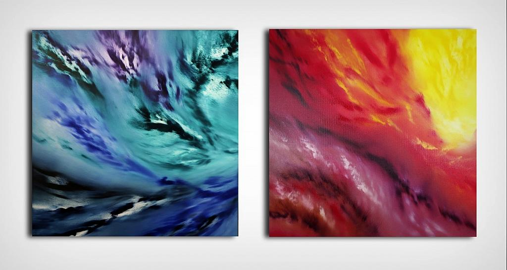 A light inside, Diptych,  n 2 opere - Davide De Palma - Olio - 450 €