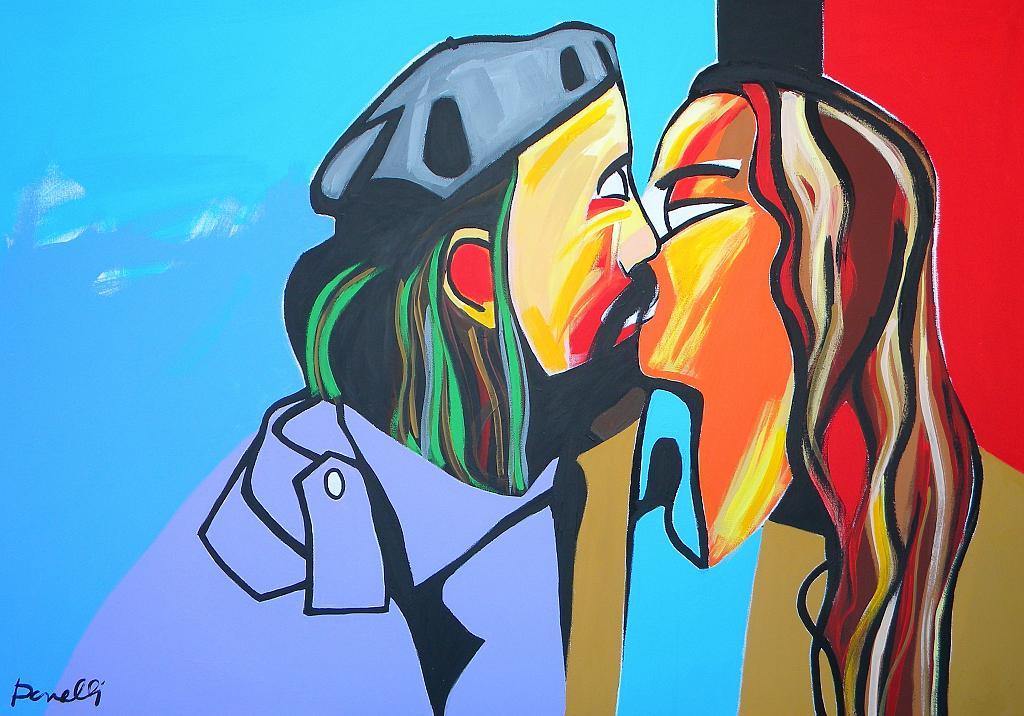 Il bacio - Gabriele Donelli - Acrilico - 400 €