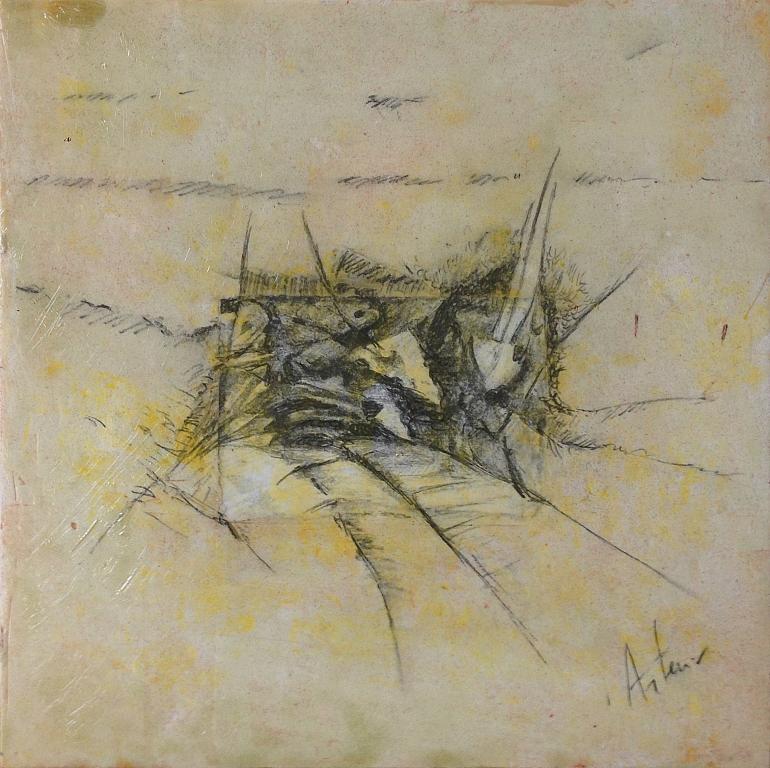 Scorci d'ntinito n.20  - Artemio Ceresa - Tecnica mista su tavola di legno - 800 €