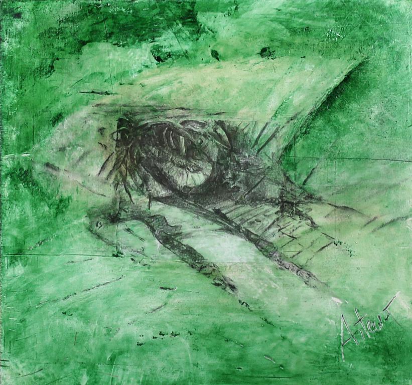 Scorci d'ntinito n.33 - Artemio Ceresa - Tecnica mista su tavola di legno - 800 €