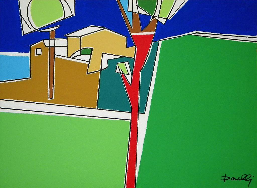 Case in collina - Gabriele Donelli - Acrilico - 400 €