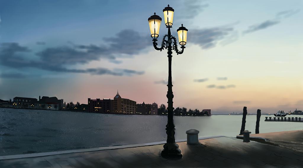 Venezia al tramonto - Michele De Flaviis - Digital Art
