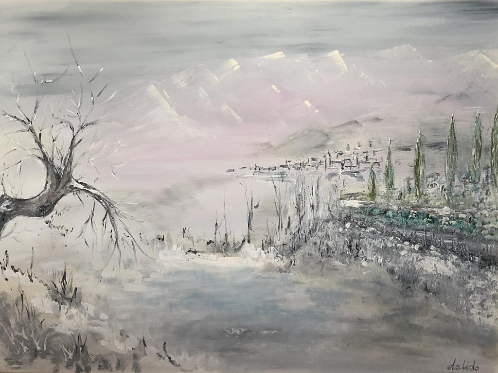 Inverno - Dalido Gino Marini - Acrilico