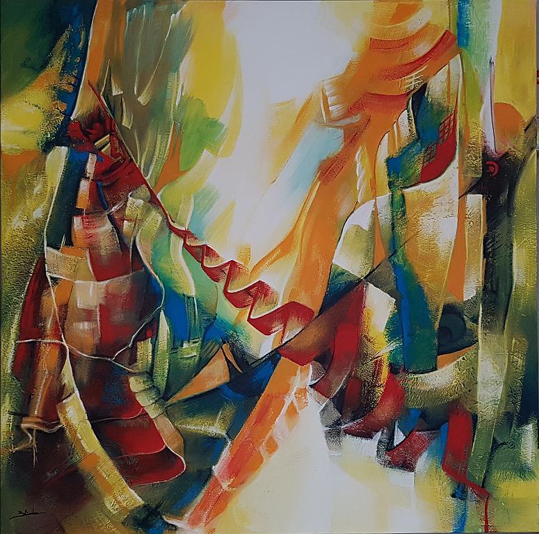 Fine del ballo - Mery BLINDU - Acrilico - 300 €