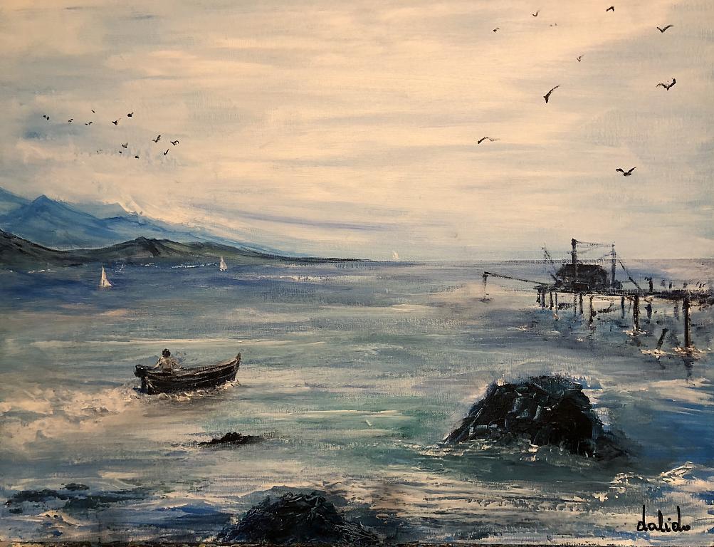 Trabocco a mare - Dalido Gino Marini - Acrilico - 150 €