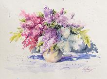 Bouquet di lillà - Eve Mazur - Acquerello - 38€