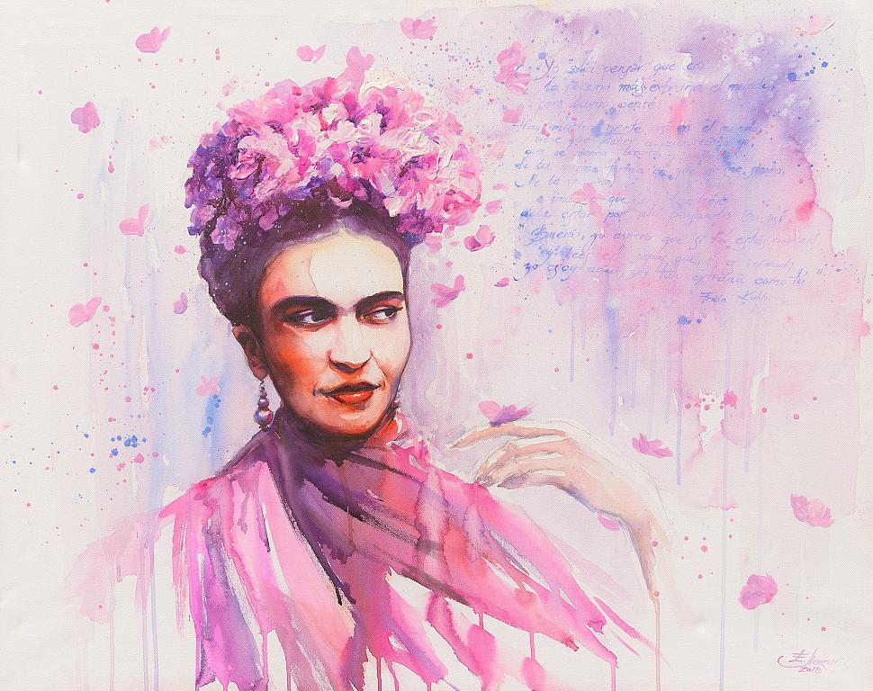 Frida Kahlo - Eve Mazur - Acquerello - 950 €
