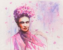 Frida Kahlo - Eve Mazur - Acquerello - 950€