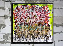 HGYPT 0100 - marco stazzini - Action painting - 220€ - Venduto!