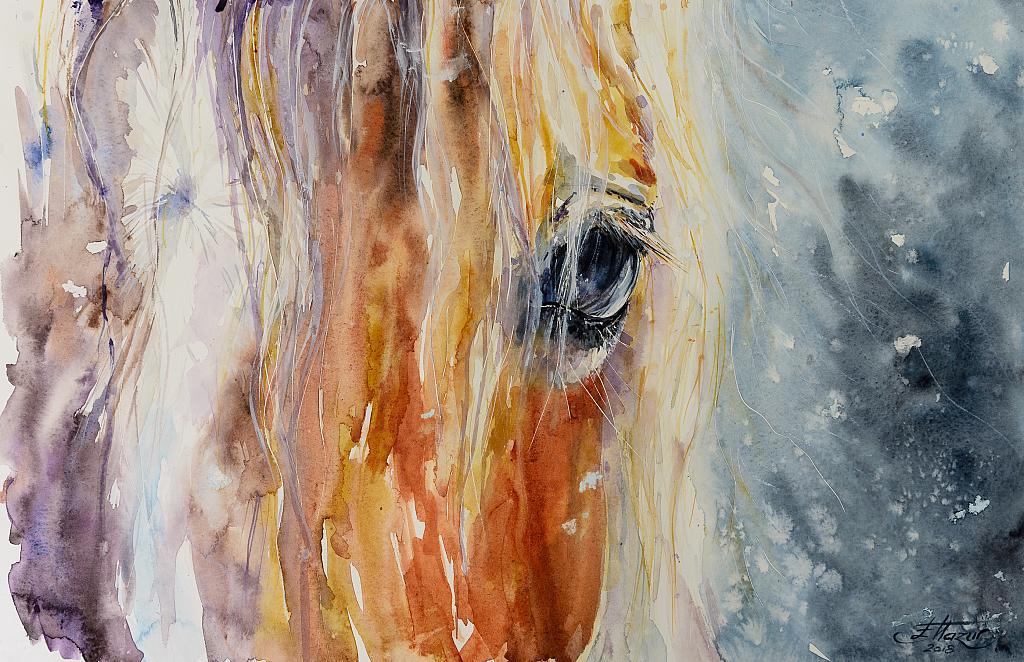 Cavallo - Eve Mazur - Acquerello - 85 €