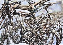 Senza titolo 27 - Lucio Forte - Acrilico, acquerello e china su carta - 99€