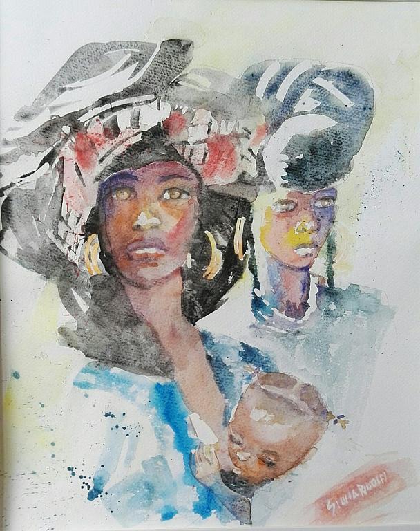 africane - SILVIA RIDOLFI - Acquerello - 180 €
