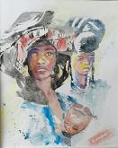 africane - SILVIA RIDOLFI - Acquerello - 180€