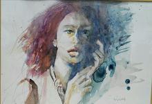Volto - SILVIA RIDOLFI - Acquerello - 140€