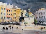 Cracovia, Polonia II - Eve Mazur - Acquerello - 75 €