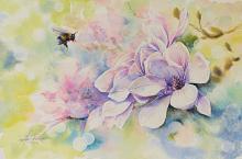 Magnolia - Eve Mazur - Acquerello - 75€