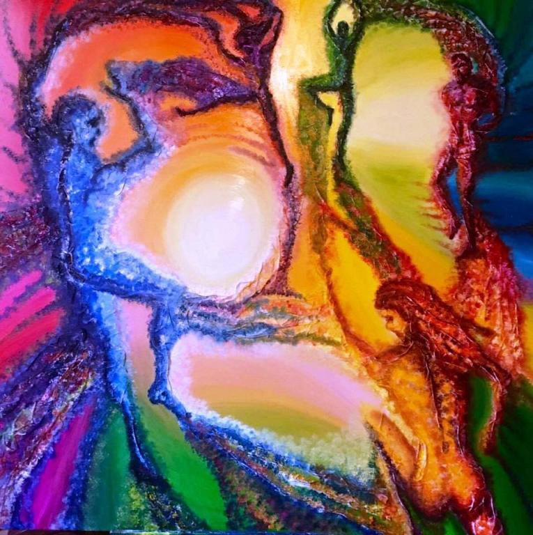 Danza di colori  - Paolo Signore - mixed on table  - 500 €