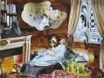 Aspettando l'arrivo della Musa - Micromondi - Luana Marchisio - Collage effetto Diorama - 125€