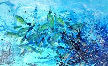 Blue dive - anna casu - Acrilico