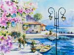 Limone, Lago di Garda, Italia - Eve Mazur - Acquerello - 45€ - Venduto!