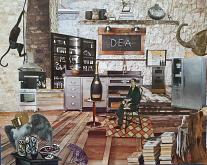 Giungla d'Acciaio - Micromondi - Luana Marchisio - Collage effetto Diorama - 125€