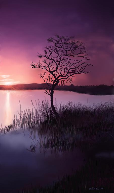 Tramonto sul lago - Michele De Flaviis - Digital Art