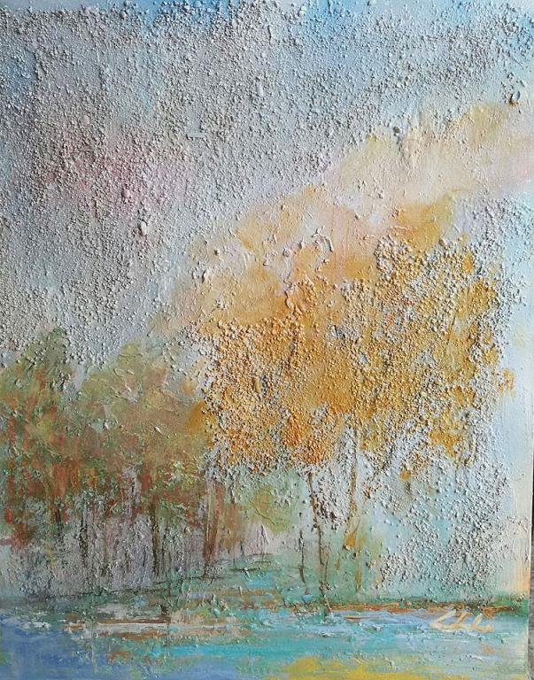 Nella nebbia il tuo silenzio OFFERTA SPECIALE - Carla Colombo - olio + sabbia