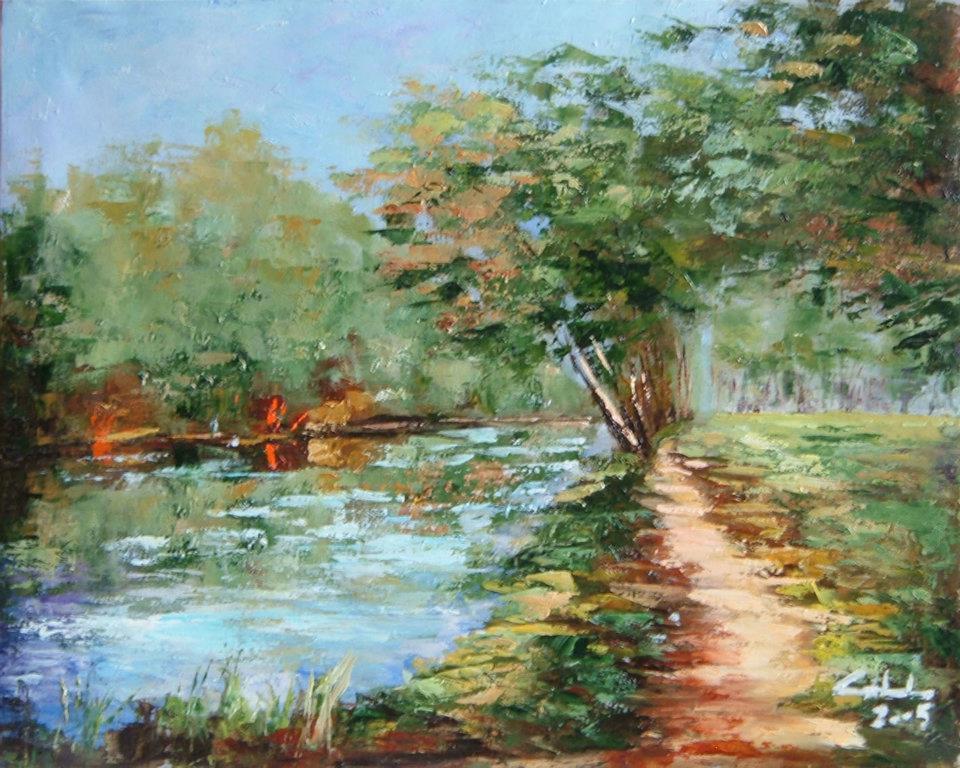 Silente fiume  Prezzo speciale - Carla Colombo - Olio - 180 €
