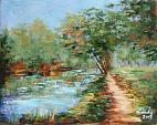 Silente fiume  - Carla Colombo - Olio - 400 €