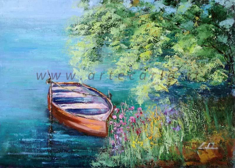 In  acque cullanti  - Prezzo speciale  - Carla Colombo - Olio - 200 €