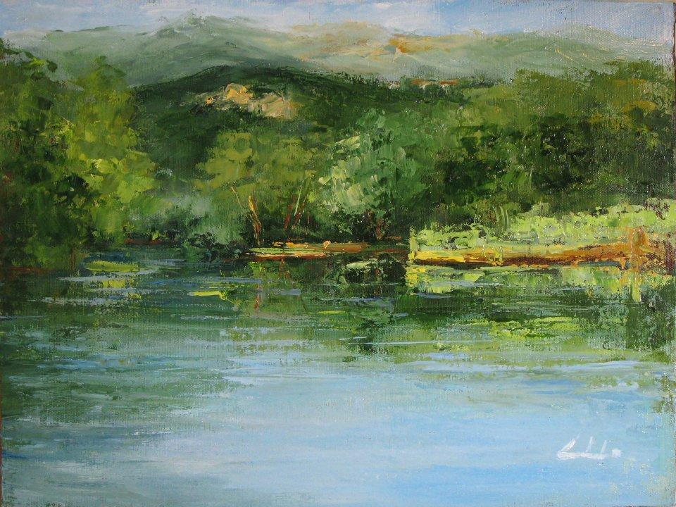 Amato fiume Adda  - Carla Colombo - Olio
