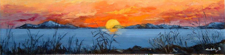 Dentro il sole  - Carla Colombo - Olio