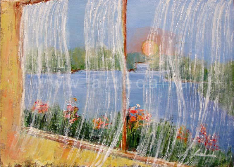 Un soffio all'alba - prezzo speciale  - Carla Colombo - Olio - 180 €