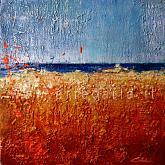Ci divide solo il mare  - Carla Colombo - olio + sabbia