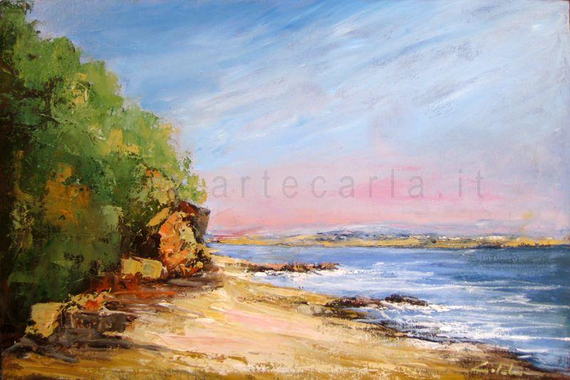 il paradiso sull'isola che c'è - Carla Colombo - Olio - 320 €